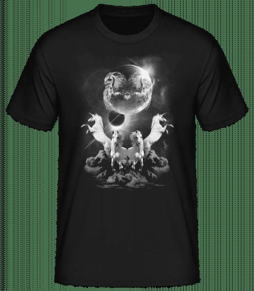 Nuit De La Licorne Mystique - Basic T-Shirt - Černá - Predné