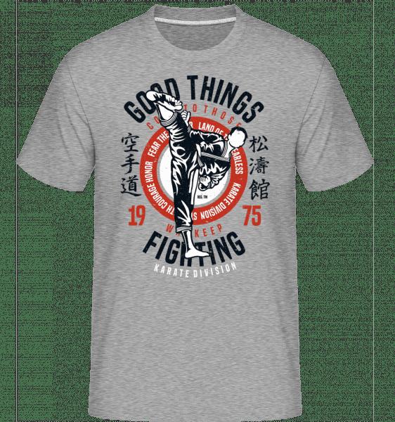 Karate Division -  Shirtinator Men's T-Shirt - Heather grey - Front