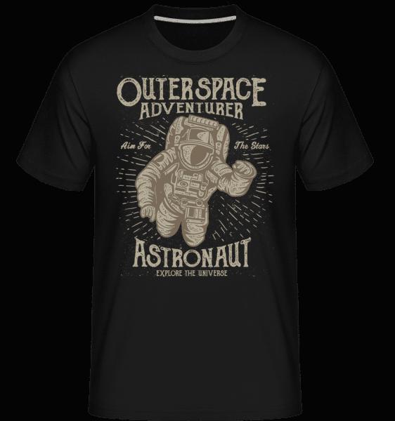 Astronaut -  Shirtinator tričko pre pánov - Čierna - Predné
