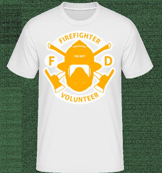 Firefighter Volunteer -  Shirtinator Men's T-Shirt - White - Vorn