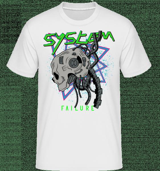 Cyberpunk System Failure -  Shirtinator Men's T-Shirt - White - Front