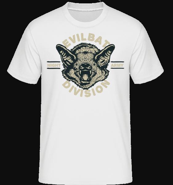 Evil Bat -  Shirtinator Men's T-Shirt - White - Vorn