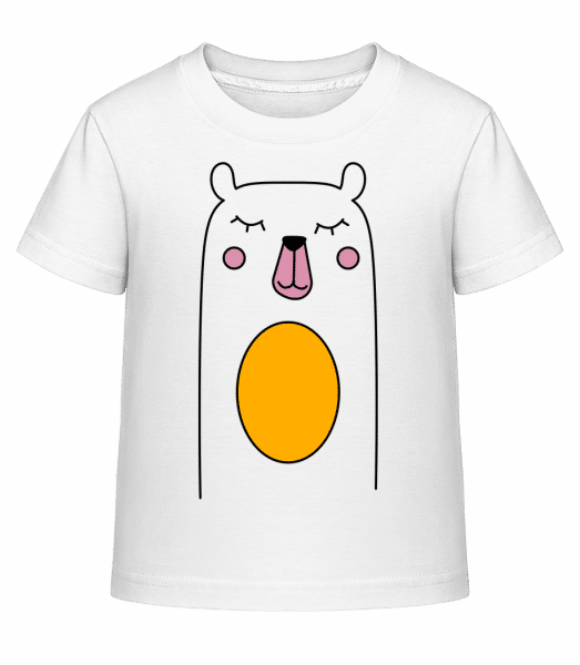 Cute Bear - Kid's Shirtinator T-Shirt - White - Vorn