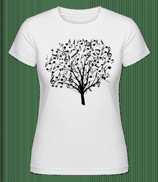 Arbre De Musique -  T-shirt Shirtinator femme - Blanc - Devant