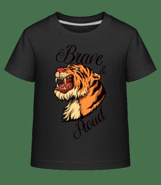 Tiger Head - Kid's Shirtinator T-Shirt - Black - Vorn