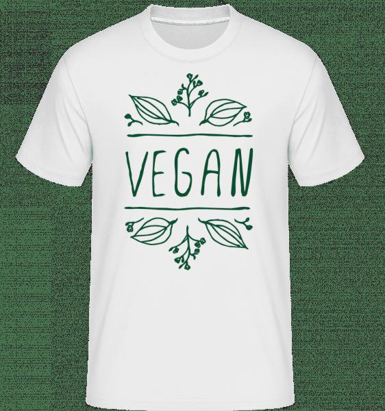 Vegan Sign -  Shirtinator Men's T-Shirt - White - Vorn