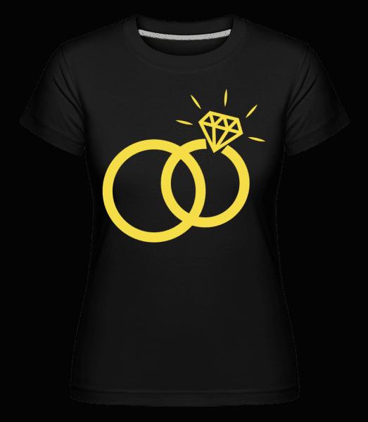 Wedding Rings -  Shirtinator Women's T-Shirt - Black - Vorn