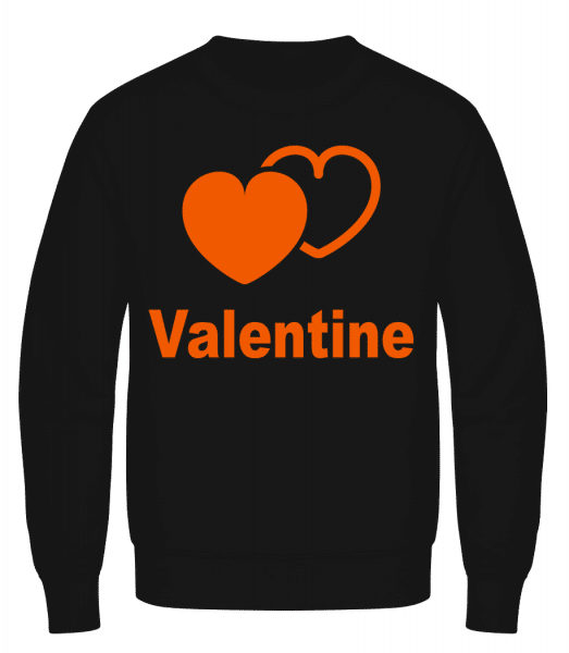 Valentine Heart - Men's Sweatshirt AWDis - Black - Vorn