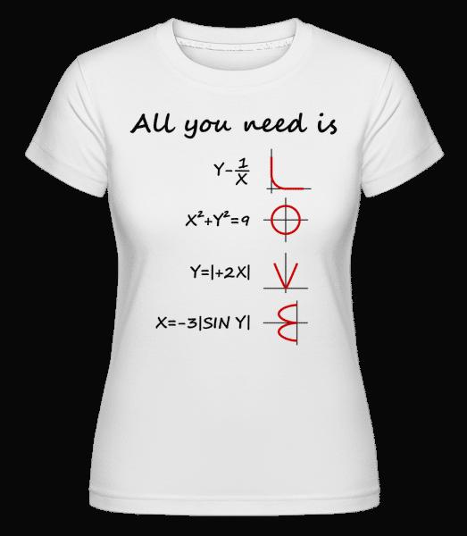 All You Need Is Love - Shirtinator Frauen T-Shirt - Weiß - Vorn