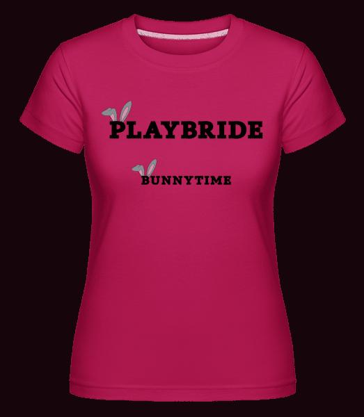Bridebunny Bunnytime -  Shirtinator tričko pre dámy - Magenta - Predné
