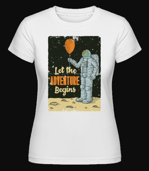 Astronaut Adventure Begins -  Shirtinator Women's T-Shirt - White - Vorn