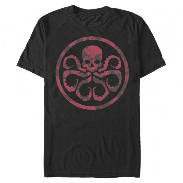 Hydra Camo - Marvel Avengers - Men's T-Shirt - Black - Front