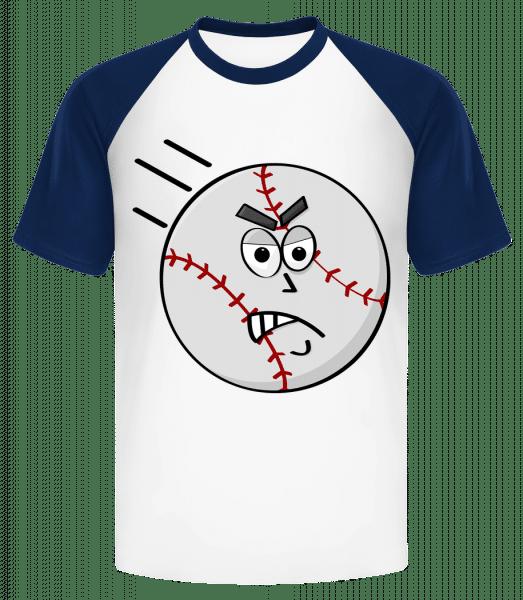 Baseball Smiley - Men's Baseball T-Shirt - White - Vorn