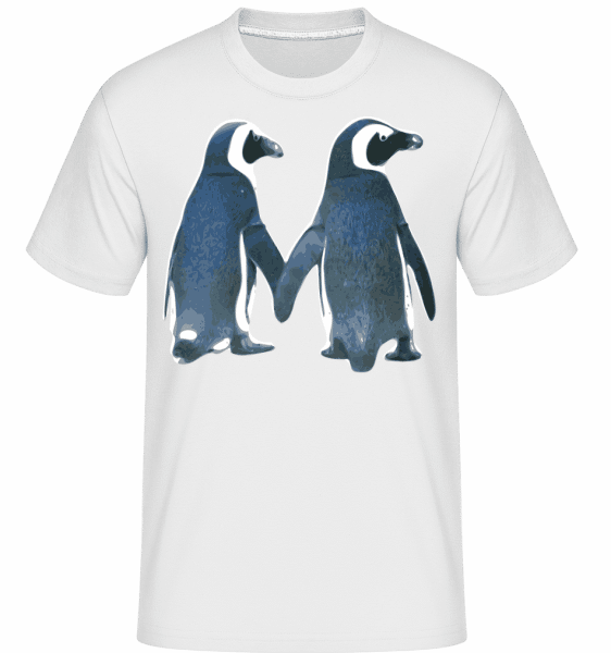 Penguin Couple -  Shirtinator Men's T-Shirt - White - Vorn