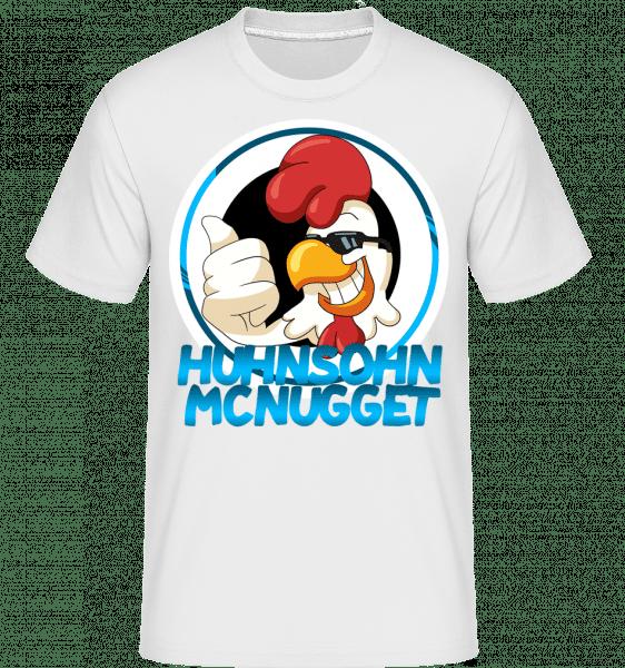 Huhnsohn Mcnugget Logo - Shirtinator Männer T-Shirt - Weiß - Vorn