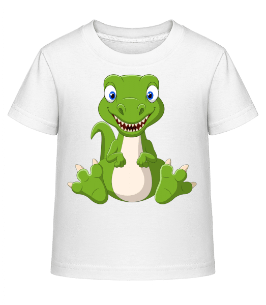 Naughty Dinosaur - Kid's Shirtinator T-Shirt - White - Vorn
