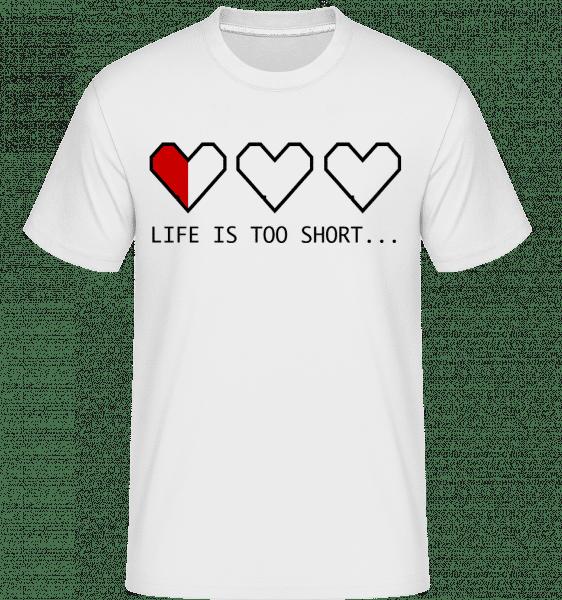 Život je príliš krátky -  Shirtinator tričko pre pánov - Biela - Predné
