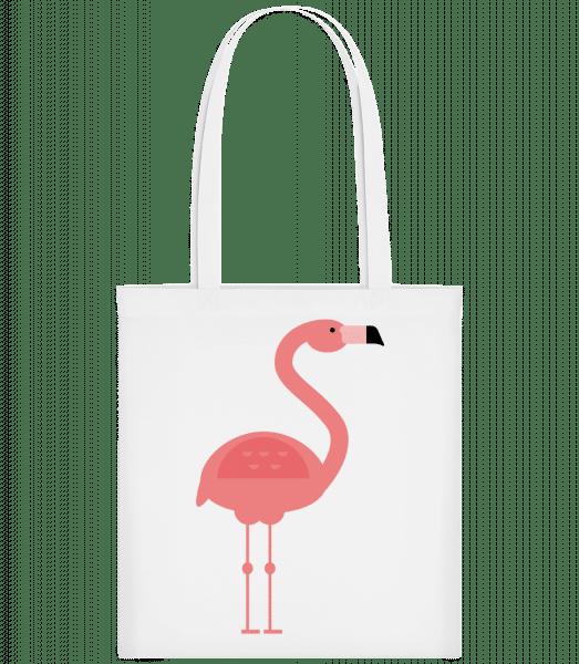 Flamingo Image - Carrier Bag - White - Vorn
