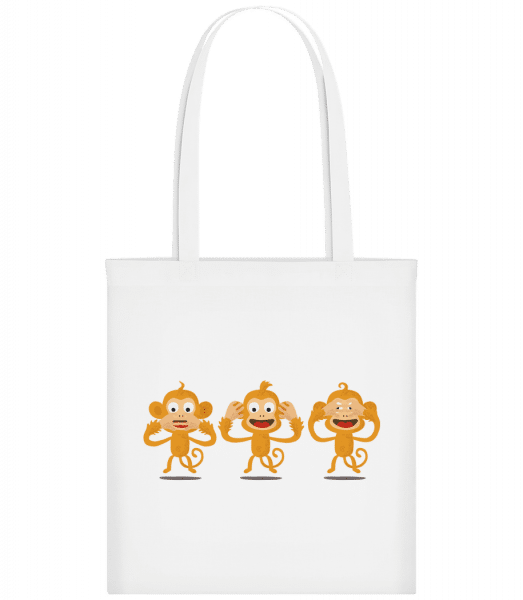 Blind Deaf Mute Monkey - Carrier Bag - White - Vorn