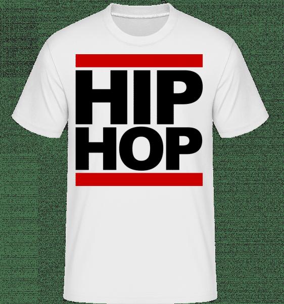 Hip Hop Logo -  Shirtinator tričko pro pány - Bílá - Napřed