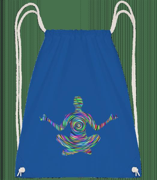 Meditation Yoga - Drawstring Backpack - Royal blue - Vorn