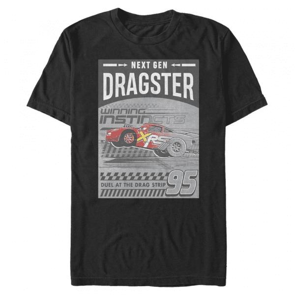 Dragster Gen Group Shot - Pixar Cars 2 - Men's T-Shirt - Black - Front