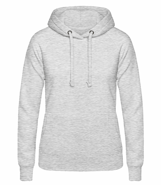 Women's Hoodie - Heather grey - Front