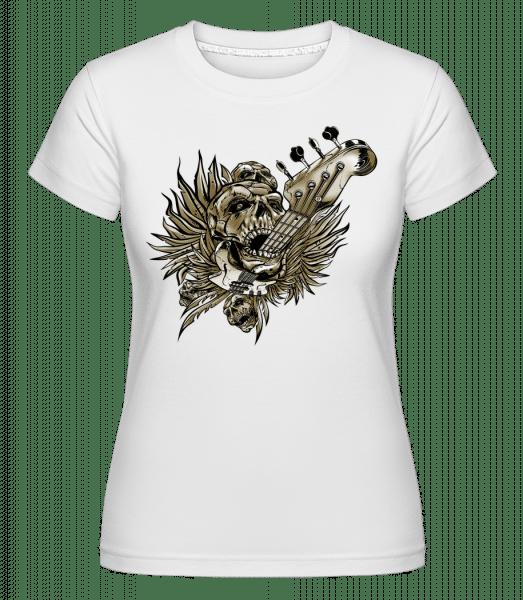 Death Of Guitars -  Shirtinator Women's T-Shirt - White - Vorn