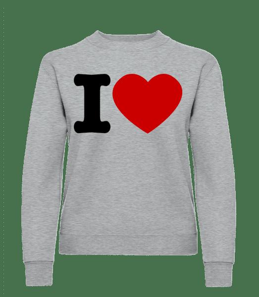 I Love - Frauen Pullover - Grau Meliert - Vorn
