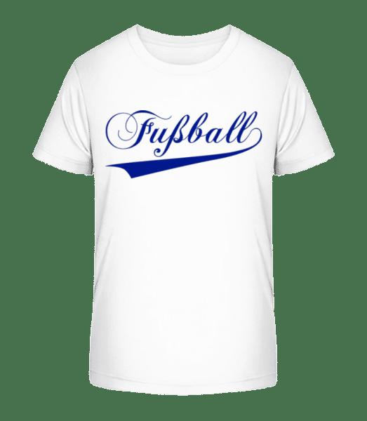 Fussball Schriftzug - Kinder Premium Bio T-Shirt - Weiß - Vorn