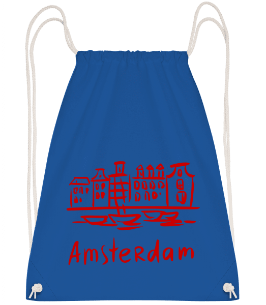 Amsterdam Chinese Style - Drawstring Backpack - Royal blue - Vorn