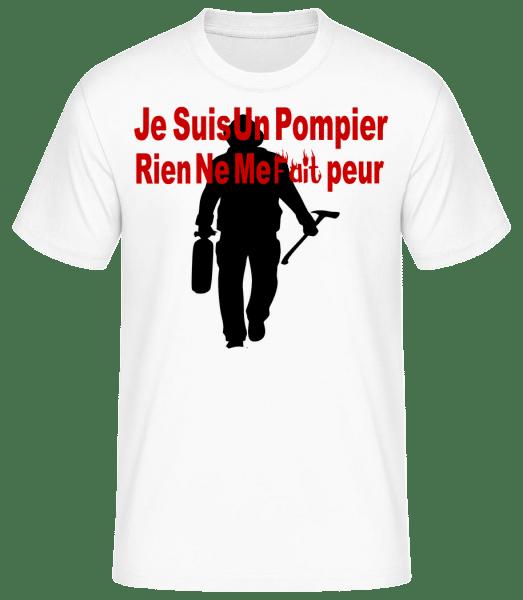 Je Suis Pompier - T-shirt standard Homme - Blanc - Vorn