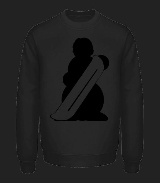 Snowboard Snowman Black - Unisex Sweatshirt - Black - Front