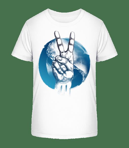Ozean Peace - Kinder Premium Bio T-Shirt - Weiß - Vorn