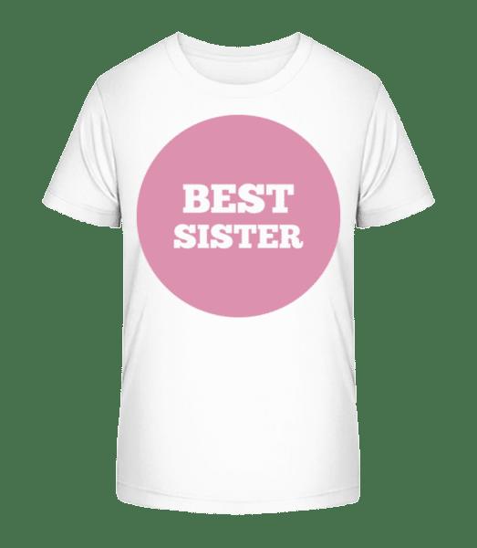Best Sestra - Detské Premium Bio tričko - Bílá - Napřed