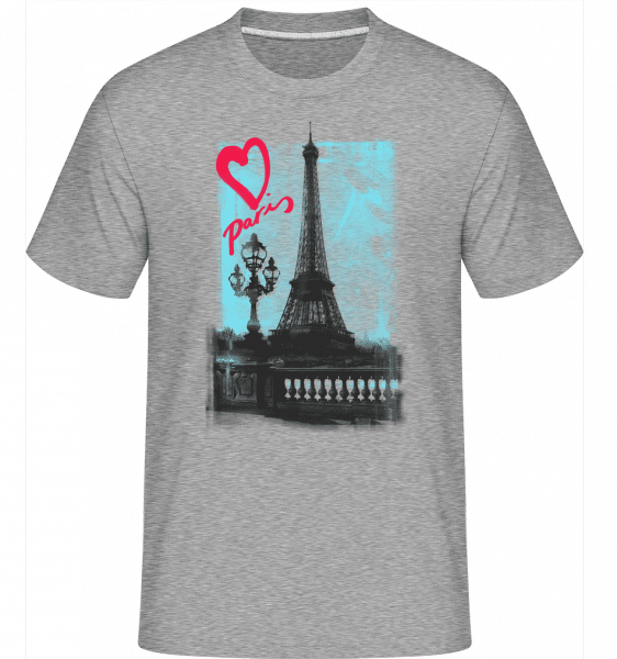 Paris love -  Shirtinator Men's T-Shirt - Heather grey - Vorn