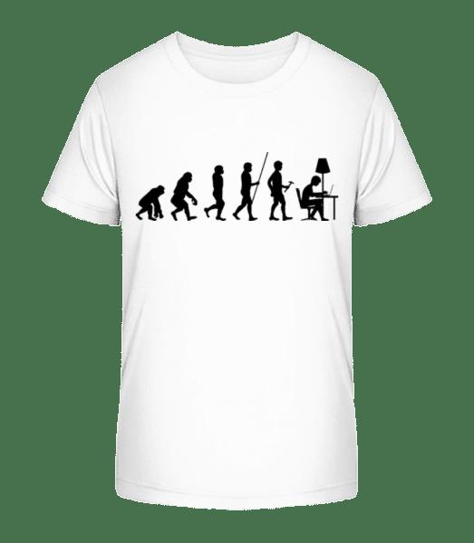 Evolution Of Office Workers - Kid's Premium Bio T-Shirt - White - Vorn