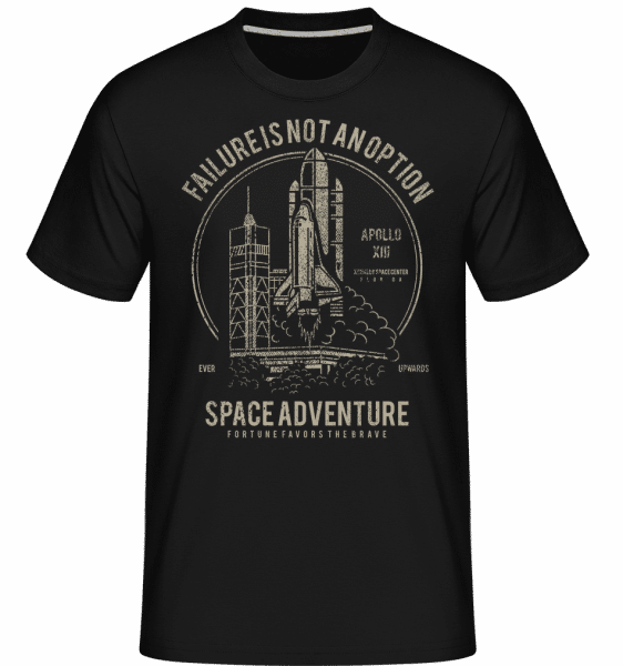 Space Adventure -  Shirtinator Men's T-Shirt - Black - Front