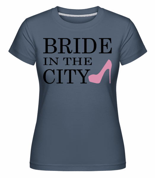 Bride In The City -  Shirtinator Women's T-Shirt - Denim - Vorn