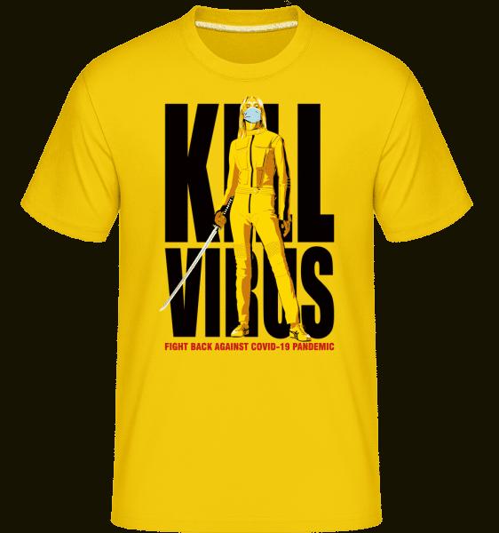 Kill Virus -  Shirtinator Men's T-Shirt - Golden yellow - Vorn