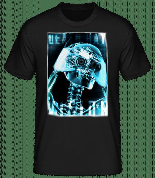 X-Ray Skeleton - Pánske basic tričko - Čierna - Predné
