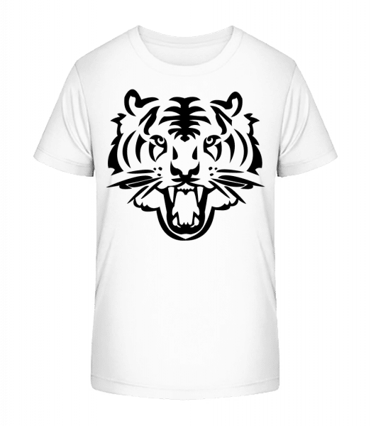 Tiger Head - Kid's Premium Bio T-Shirt - White - Front