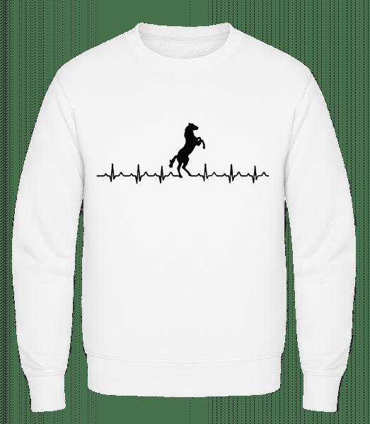 Horse Heartbeat - Classic Set-In Sweatshirt - White - Vorn