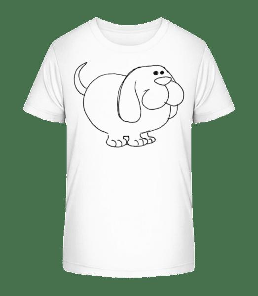 Kids Comic - Dog - Kid's Premium Bio T-Shirt - White - Vorn