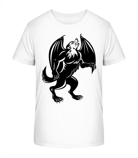 Gothic Monster Black - Kid's Premium Bio T-Shirt - White - Vorn