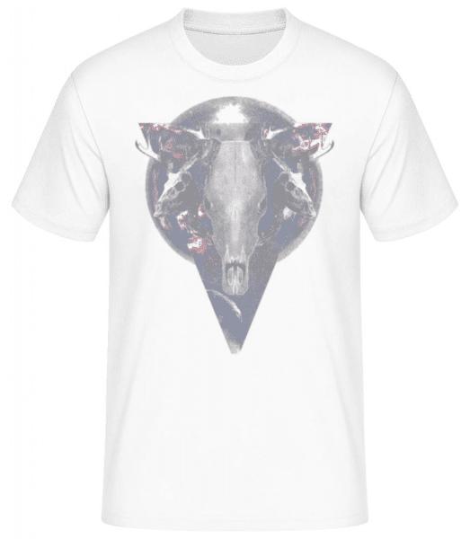 Buffalo Skull - Men's Basic T-Shirt - White - Front