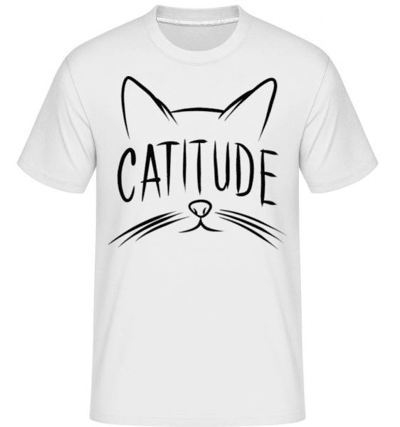 Catitude -  Shirtinator Men's T-Shirt - White - Front