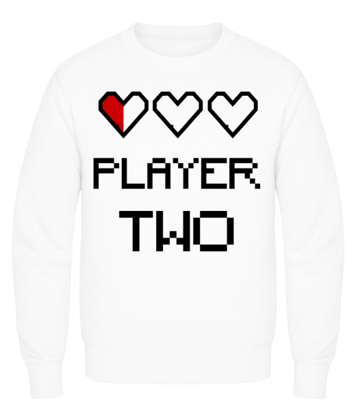 Player Two - Men's Sweatshirt AWDis - White - Vorn
