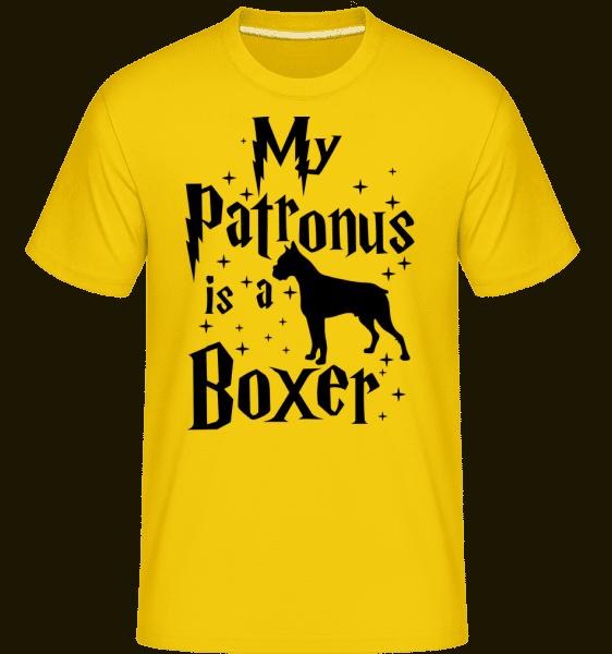 My Patronus Is A Boxer -  Shirtinator Men's T-Shirt - Golden yellow - Vorn
