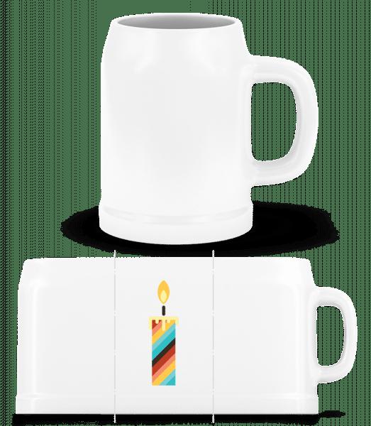 Birthday Candle - Beer Mug - White - Vorn